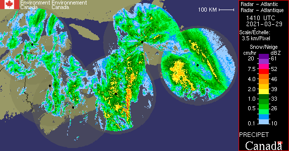 Radar, courtesy of Environment Canada